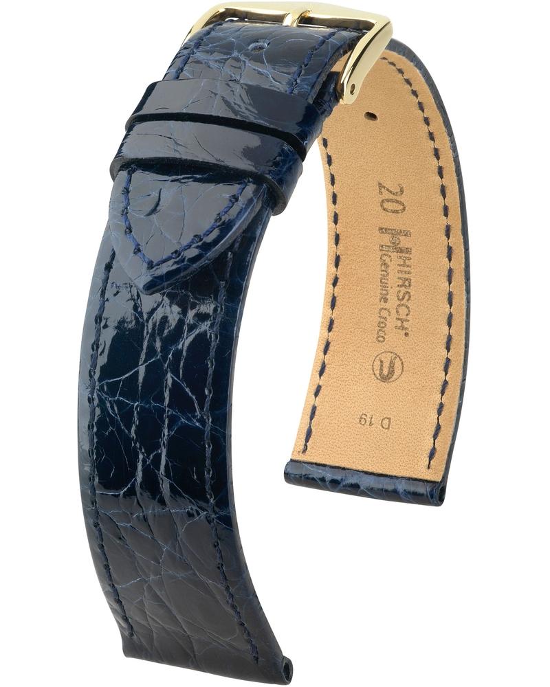 Genuine Croco Синий Глянцевый